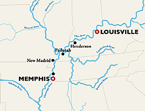 St. Louis to Minneapolis Cruise Map