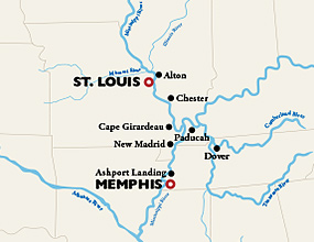 St. Louis to Memphis Cruise Route