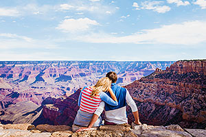 Couple enjoying Grand Canyon views
