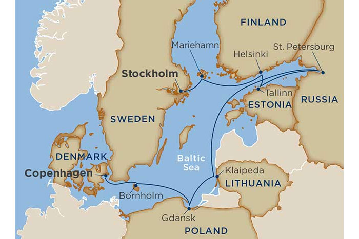 Windstar Baltic Delights Cruise Itinerary Map