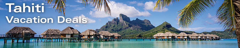 Tahiti Overwater Bungalow, Mount Otemanu in background, Bora Bora