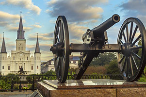 Historic Cannon, Jackson Square, New Orleans