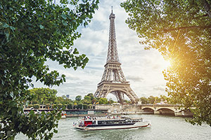 River Cruise past Eiffel Tower