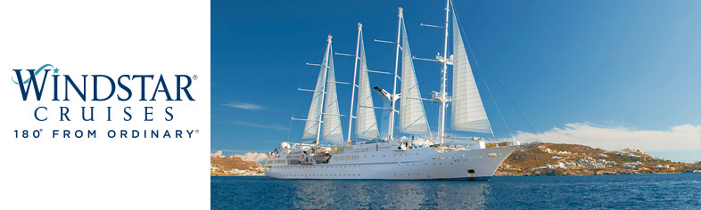 Windstar anchored off Mykonos, Italy