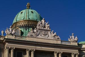 Dome of the Hofburg in Vienna, Austria