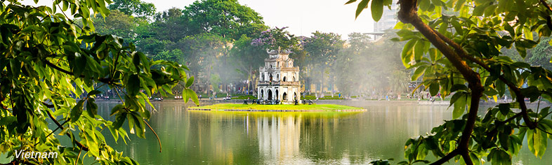 Turtle Tower in Hanoi Hoan, Vietnam