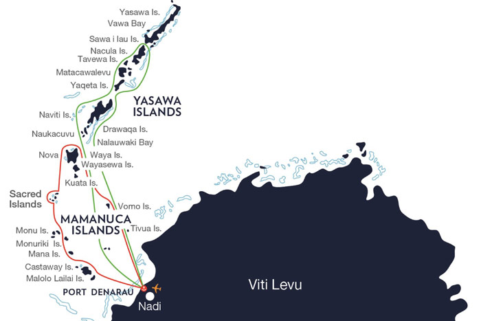 Captain Cook Fiji Cruise Map