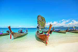 Boats on Phuket beach, Thailand