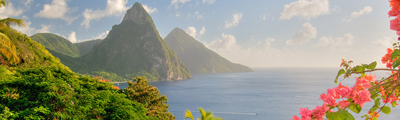 St Lucias Twin Pitons