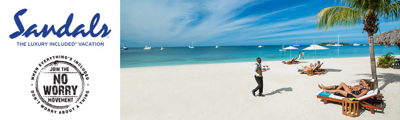 Beach service - Sandals Resorts All Inclusive