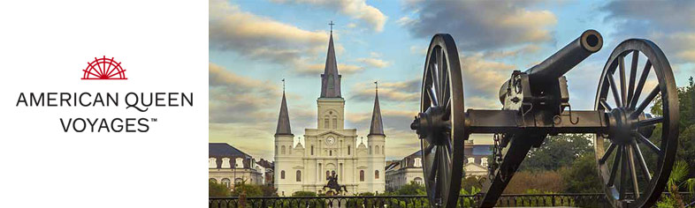 Jackson Square, New Orleans roundtrip cruise departure