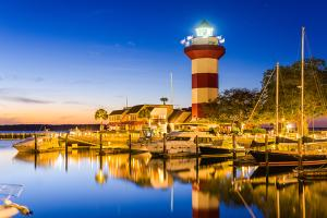 Lighthouse and Harbor in Hilton Head