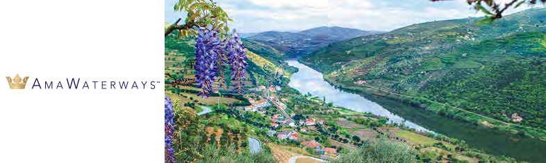 View of winding river bend in portugal