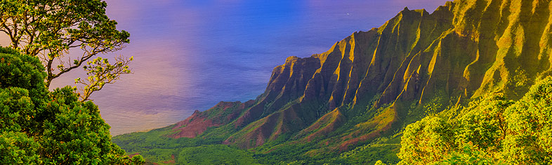 View of Na Pali Coast, Kauai