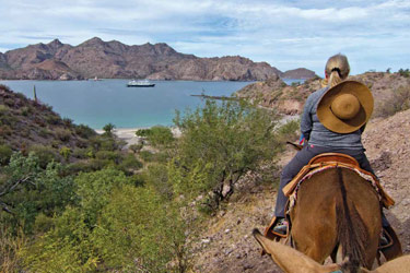 Horseback riding, Uncruise Baja's Bounty