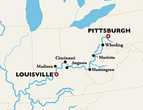 Pittsburgh to Louisville Cruise Route