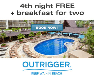 Outrigger Reef Waikiki Beach Resort - FREE Two-Category Car Rental Upgrade