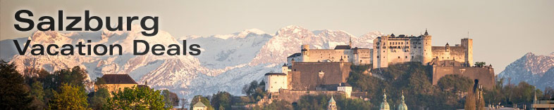 Hohensalsburg Castle and the old town, Salzburg, Austria