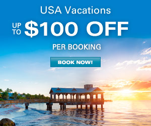 USA Vacations - Up to $100 OFF per booking