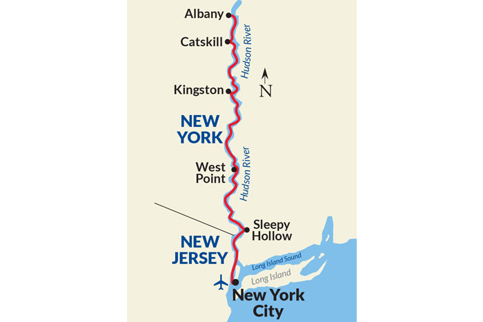 Hudson River Cruise Map