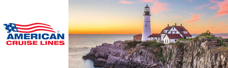 Light House at Sunset, New England
