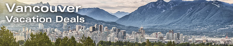 Vancouver skyline with mountains in background, British Columbia