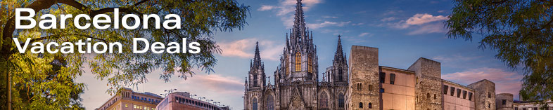 Panorama of Cathedral of Barcelona