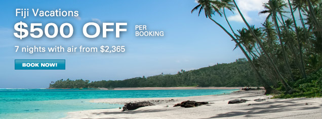 Fiji Vacations - $300 OFF per booking