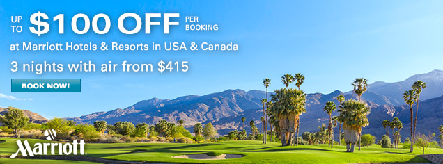 Marriott Global - Up to $100 OFF per booking