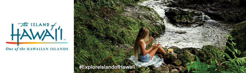Big Island waterfall picnic