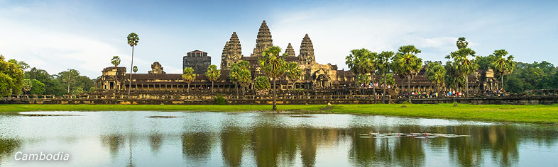 Angkor Wat view from lake, Cambodia