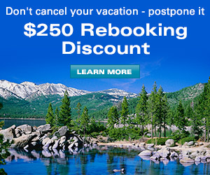 EXCLUSIVE $250 per booking Rebooking Discount