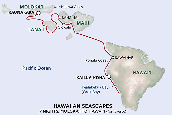 Un-Cruise Hawaii Cruise Map