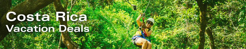 Woman ziplineing in Costa Rica Rainforest