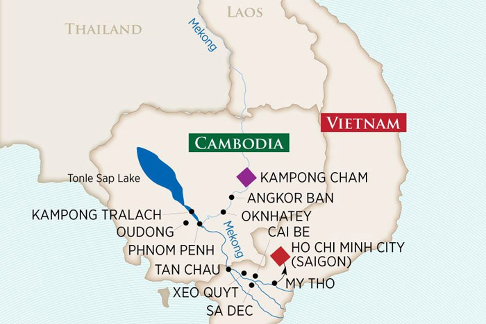 Riches of the Mekong: Cruise Map
