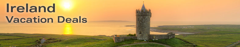 Ancient tower at sunset, Co. Clare, Ireland